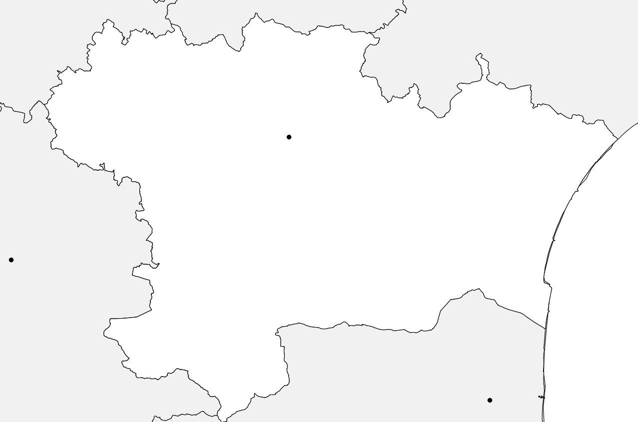 Carte vierge de l'Aude