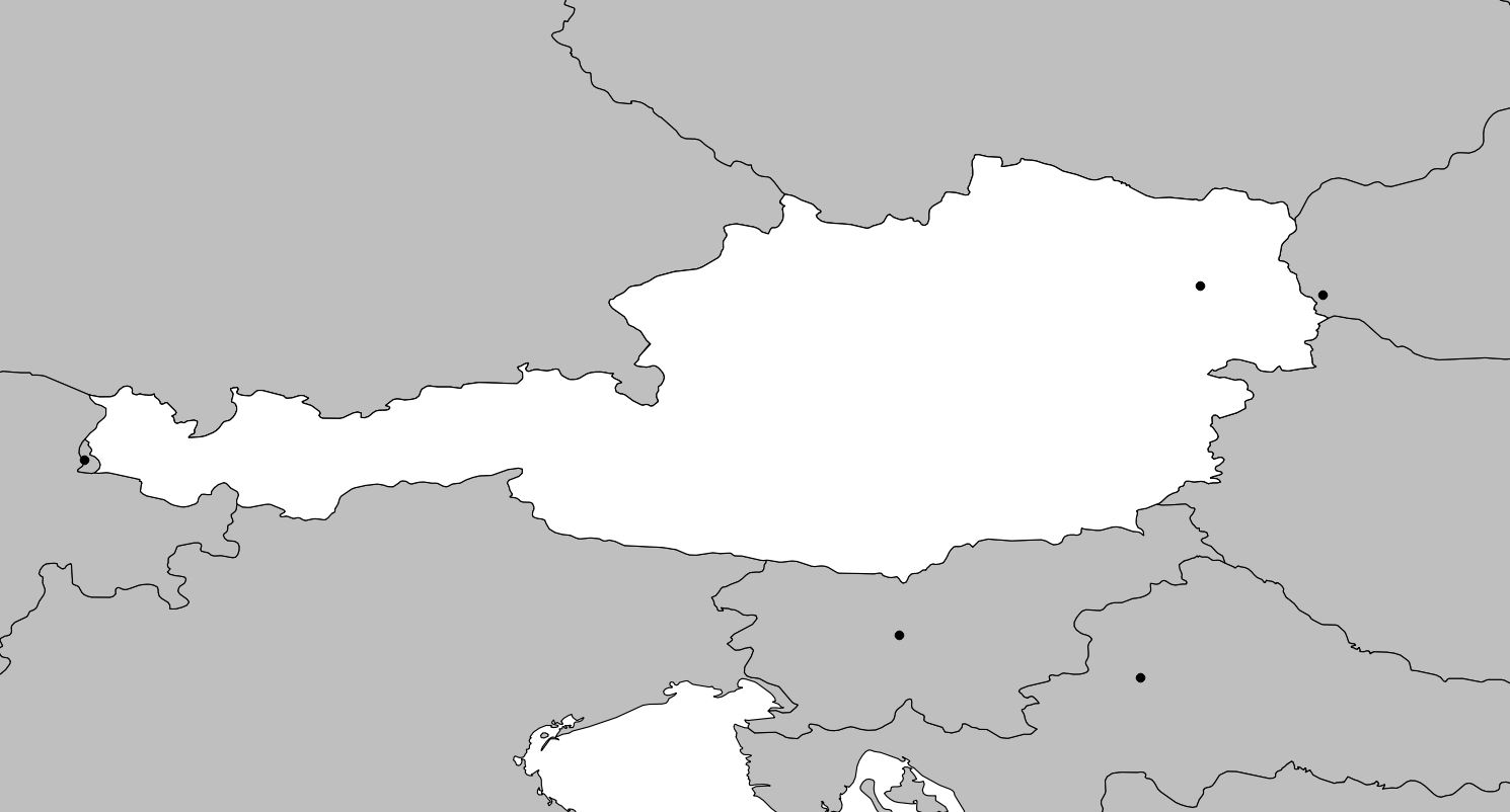 Carte vierge de l'Autriche