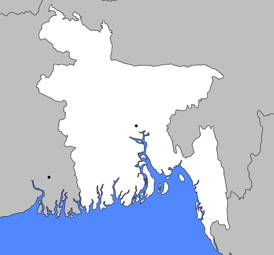 Carte vierge du Bangladesh