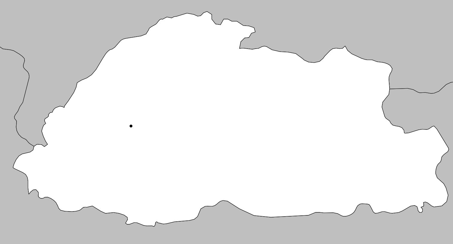 Carte vierge du Bhoutan