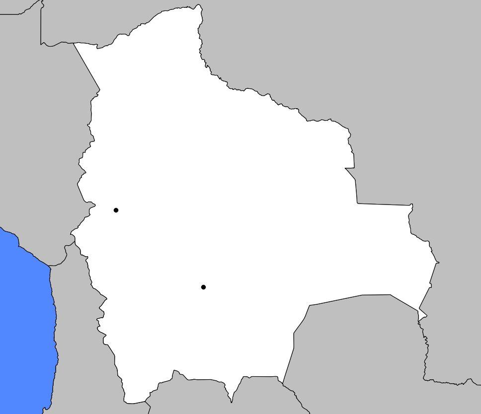 Carte vierge de la Bolivie