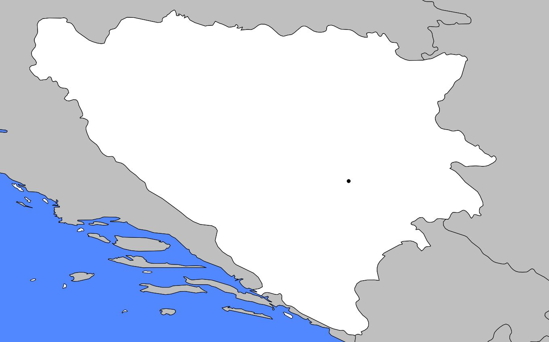 Carte vierge de la Bosnie-Herzégovine
