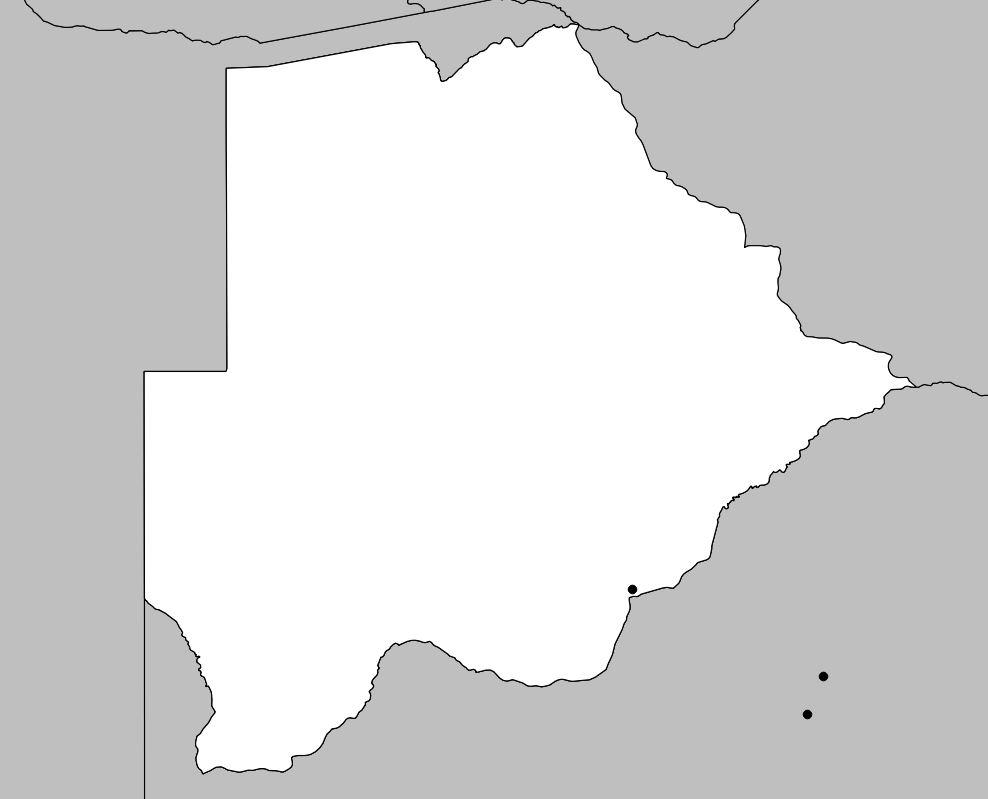 Carte vierge du Botswana