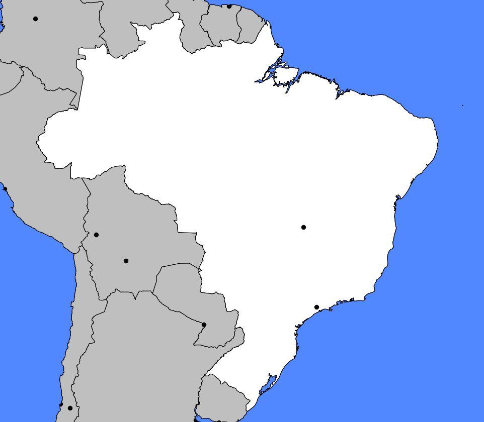 Carte vierge du Brésil