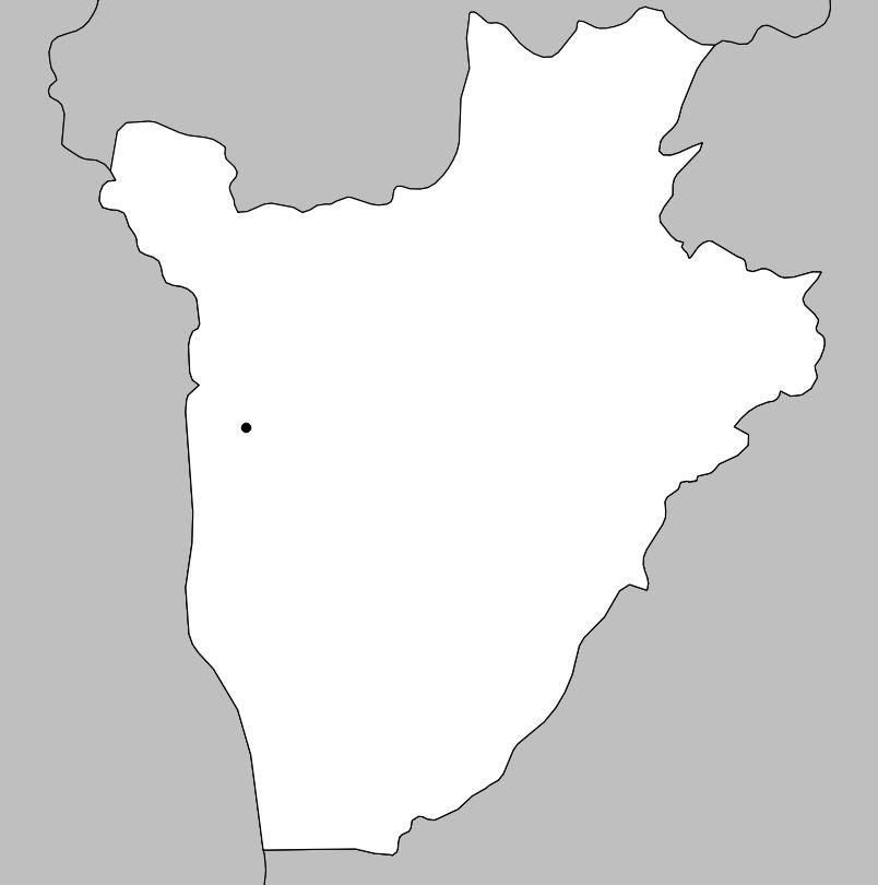 Carte vierge du Burundi