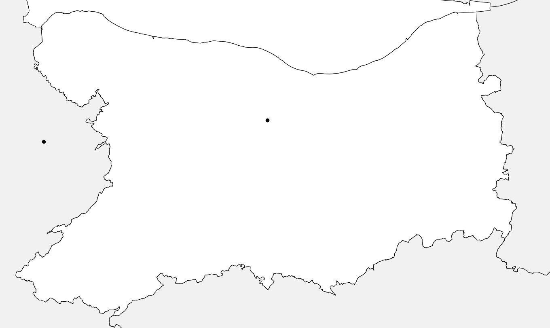 Carte vierge du Calvados