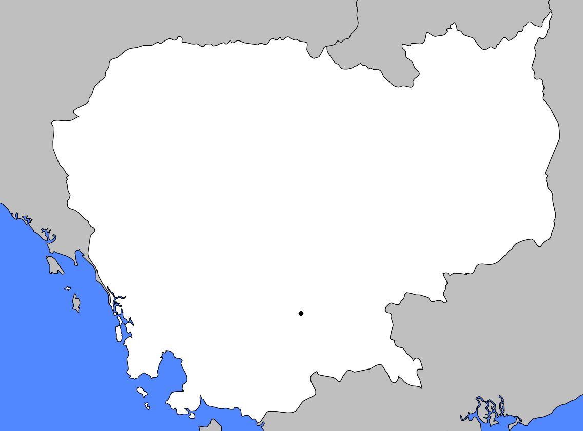 Carte vierge du Cambodge