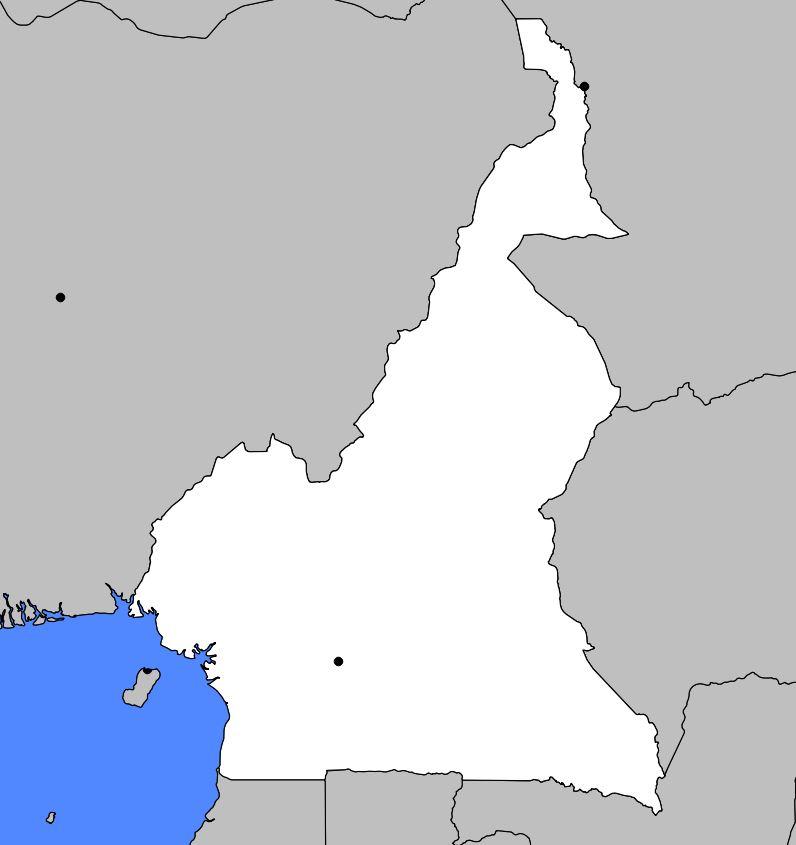 Carte vierge du Cameroun