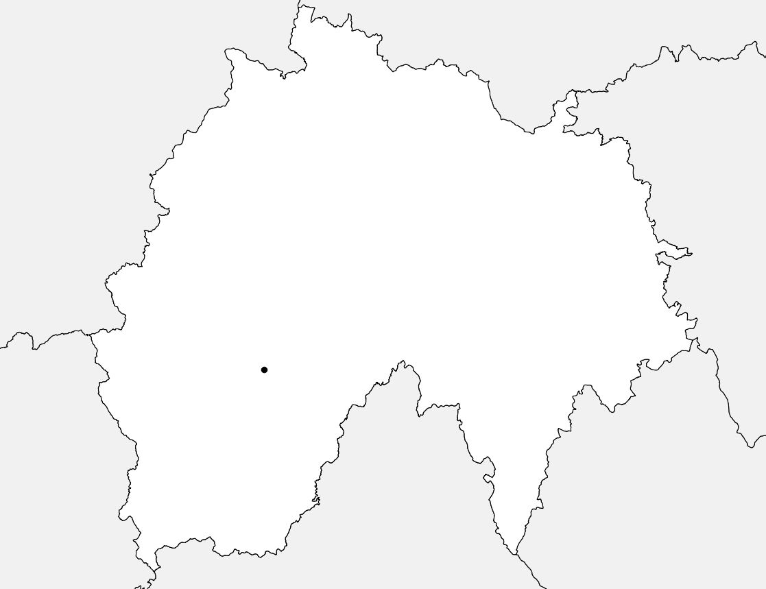 Carte vierge du Cantal