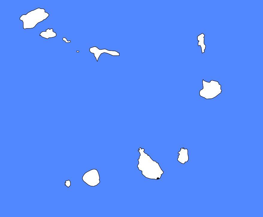 Carte vierge du Cap-Vert