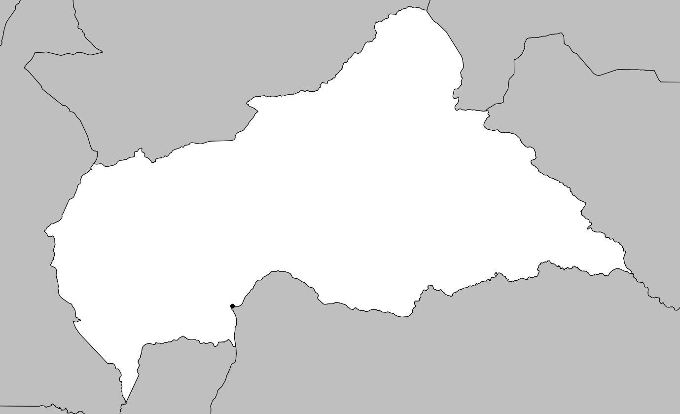 Carte vierge de la Centrafrique