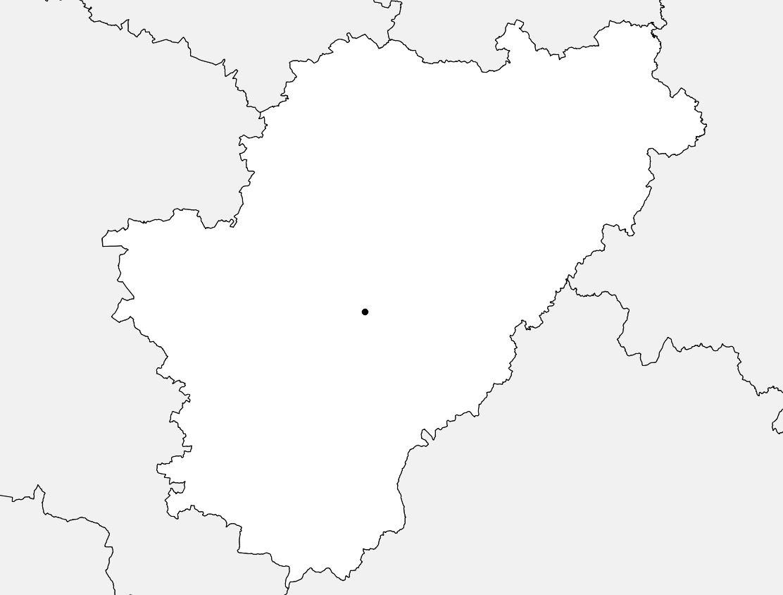 Carte vierge de la Charente