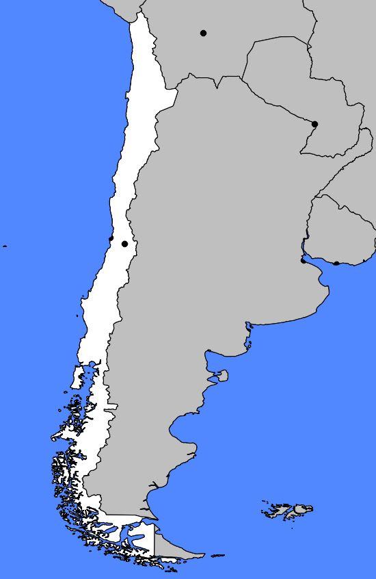 Carte vierge du Chili