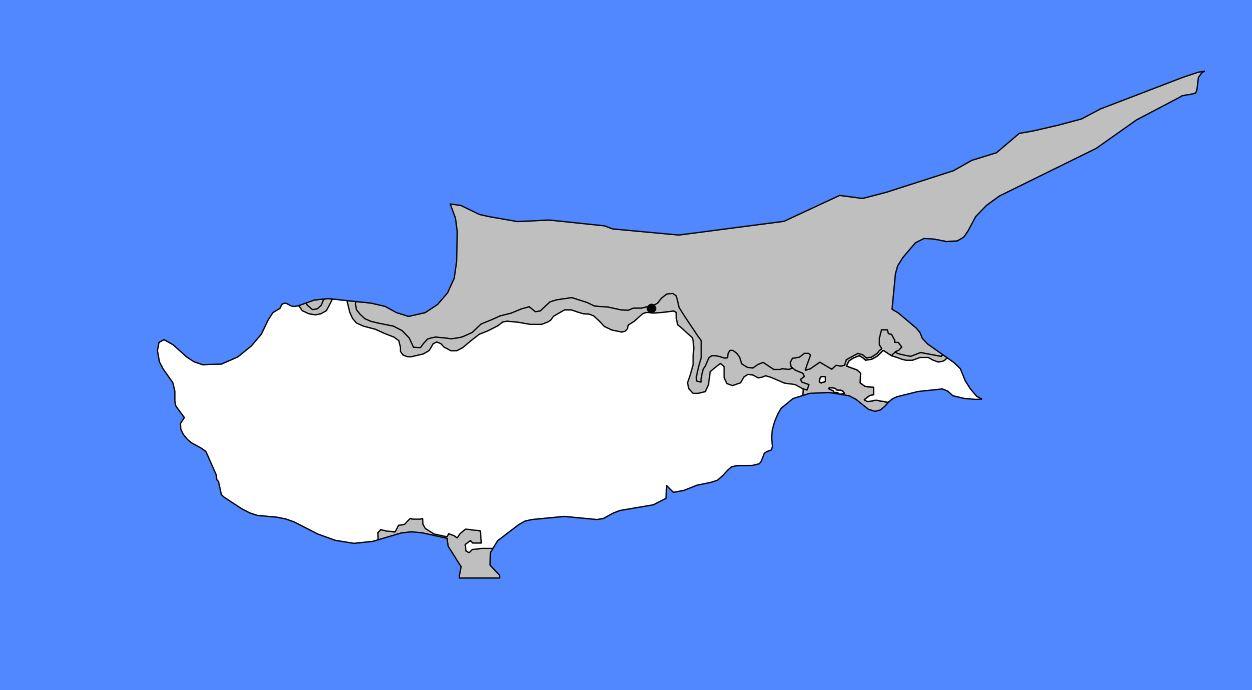Carte vierge de Chypre