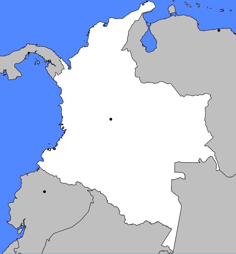 Carte vierge de la Colombie