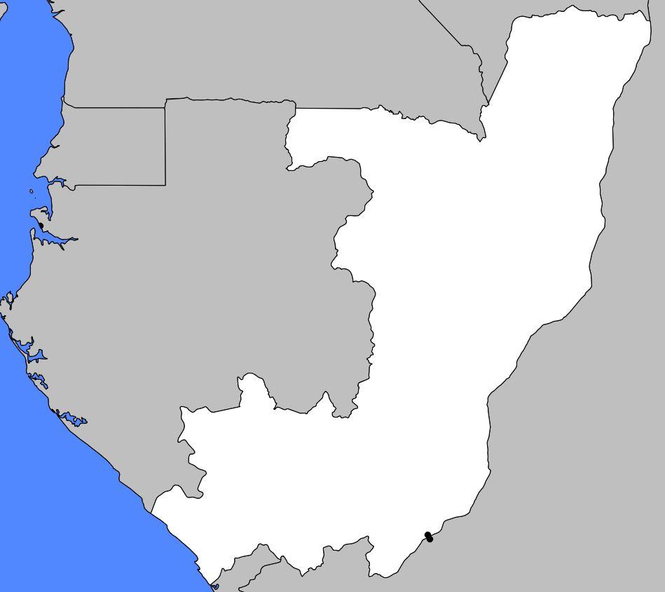 Carte vierge de la République du Congo