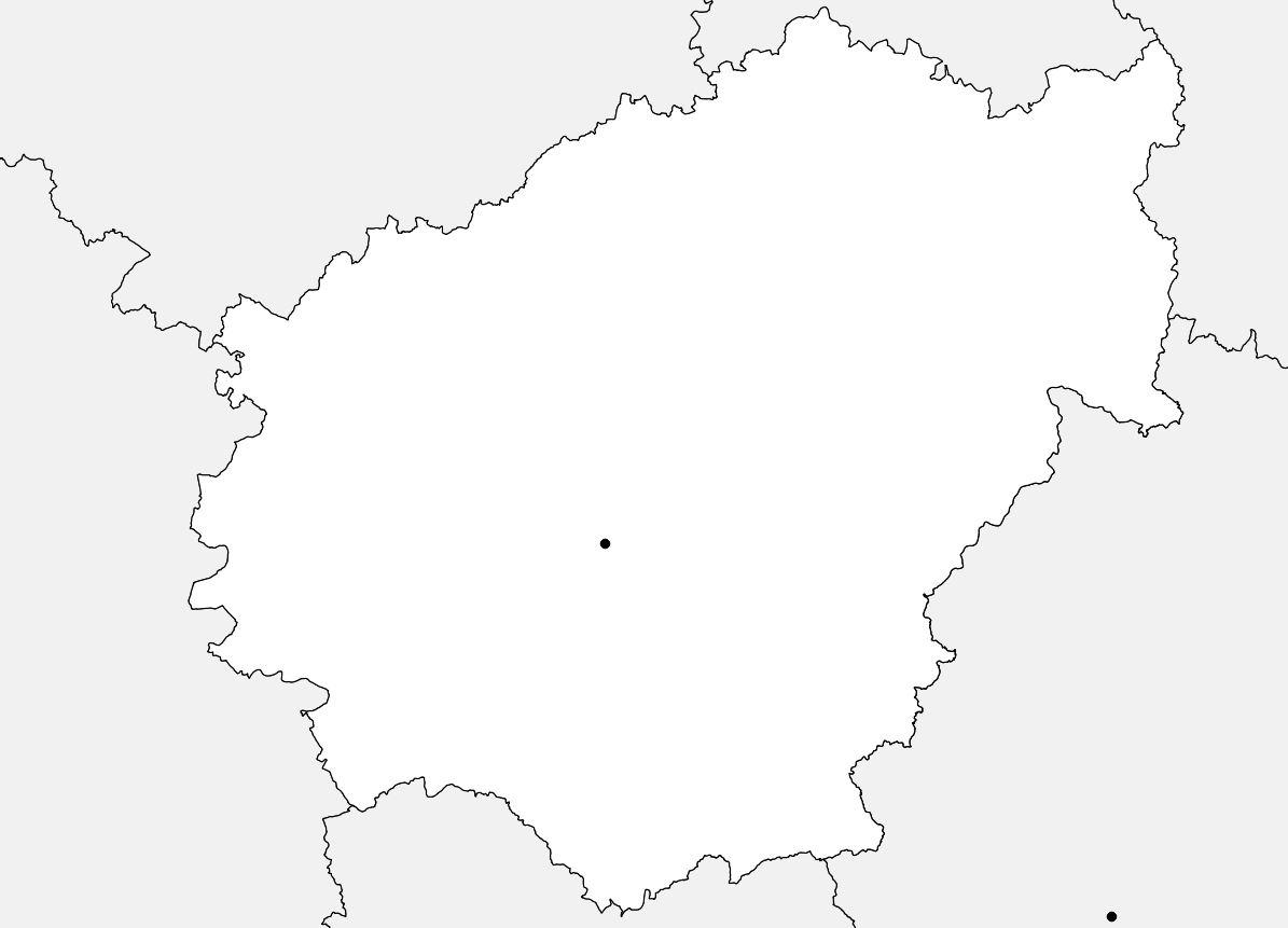 Carte vierge de la Corrèze