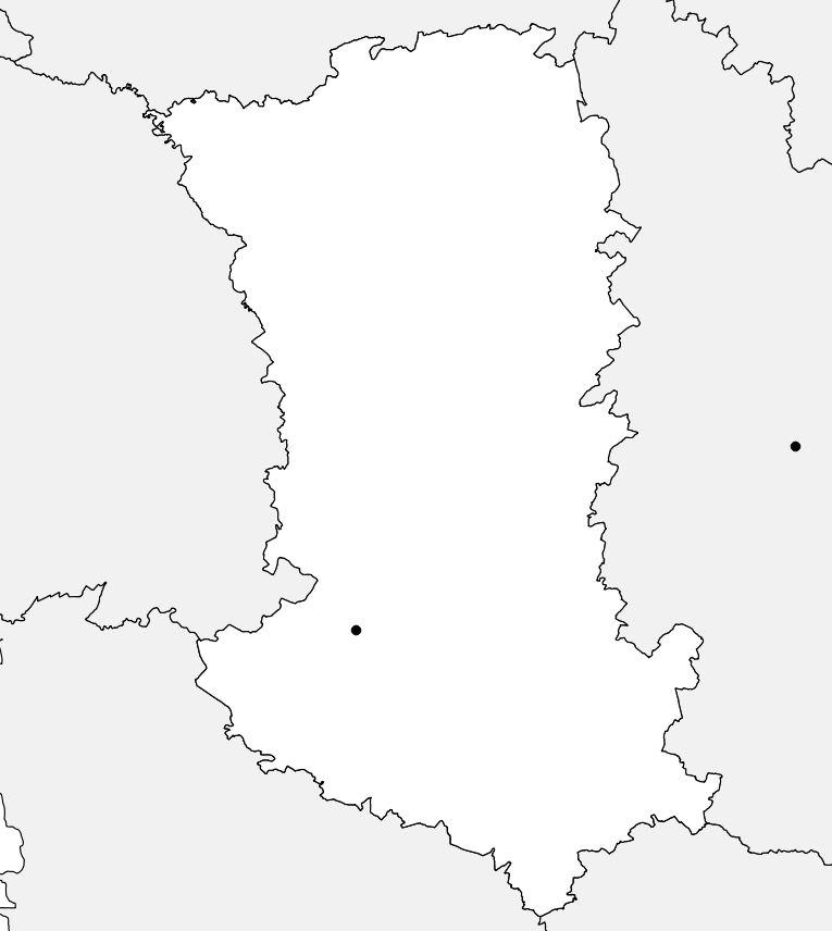 Carte vierge des Deux-Sèvres