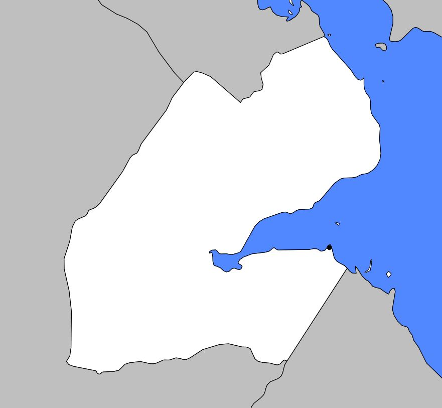 Carte vierge de Djibouti