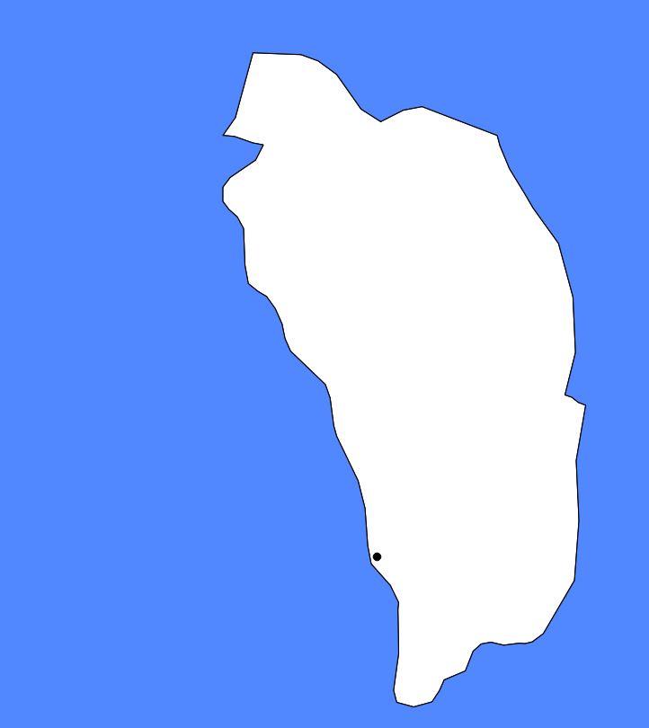 Carte vierge de la Dominique