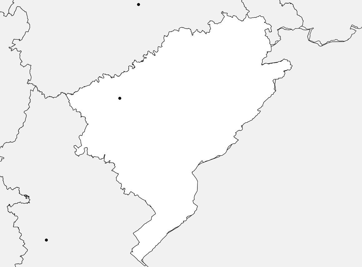 Carte vierge du Doubs
