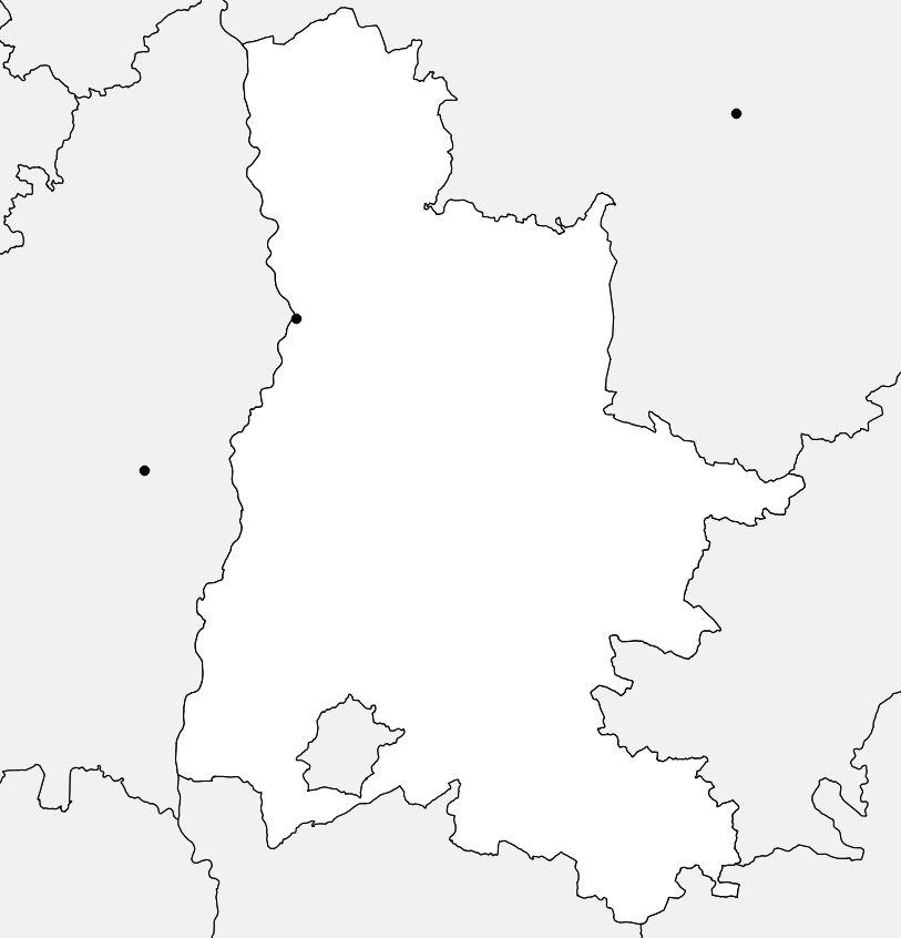 Carte vierge de la Drôme