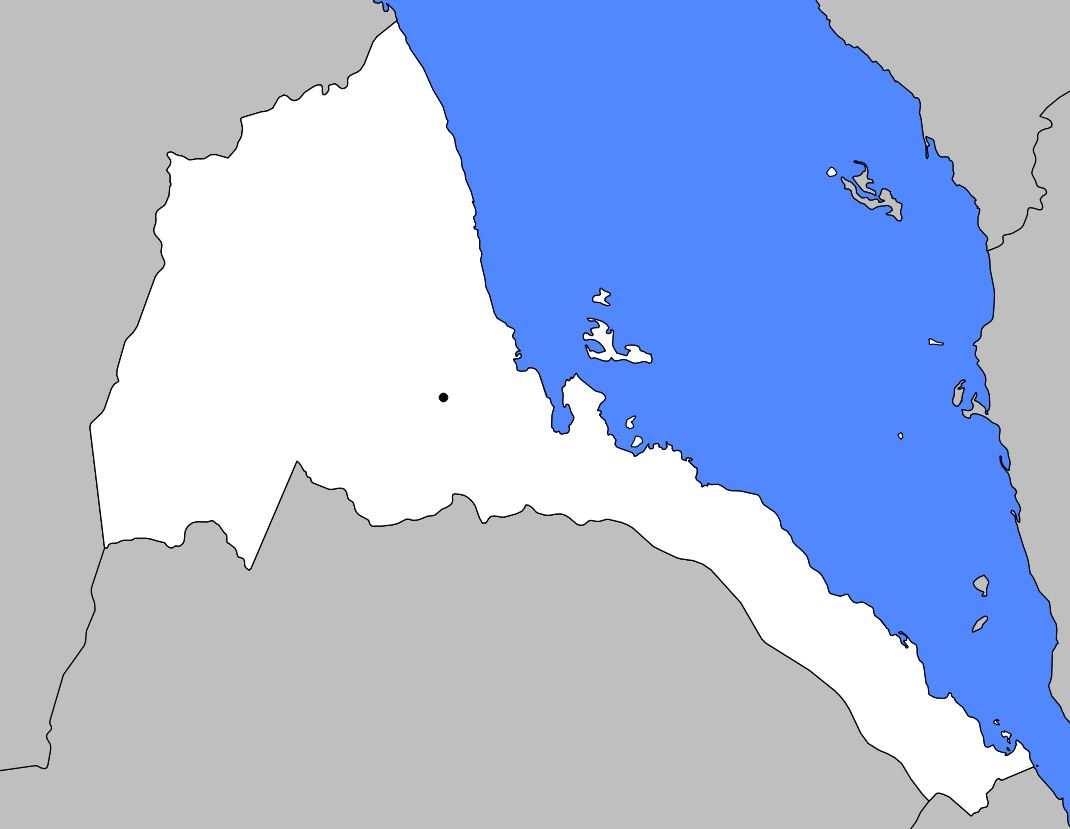 Carte vierge de l'Erythrée