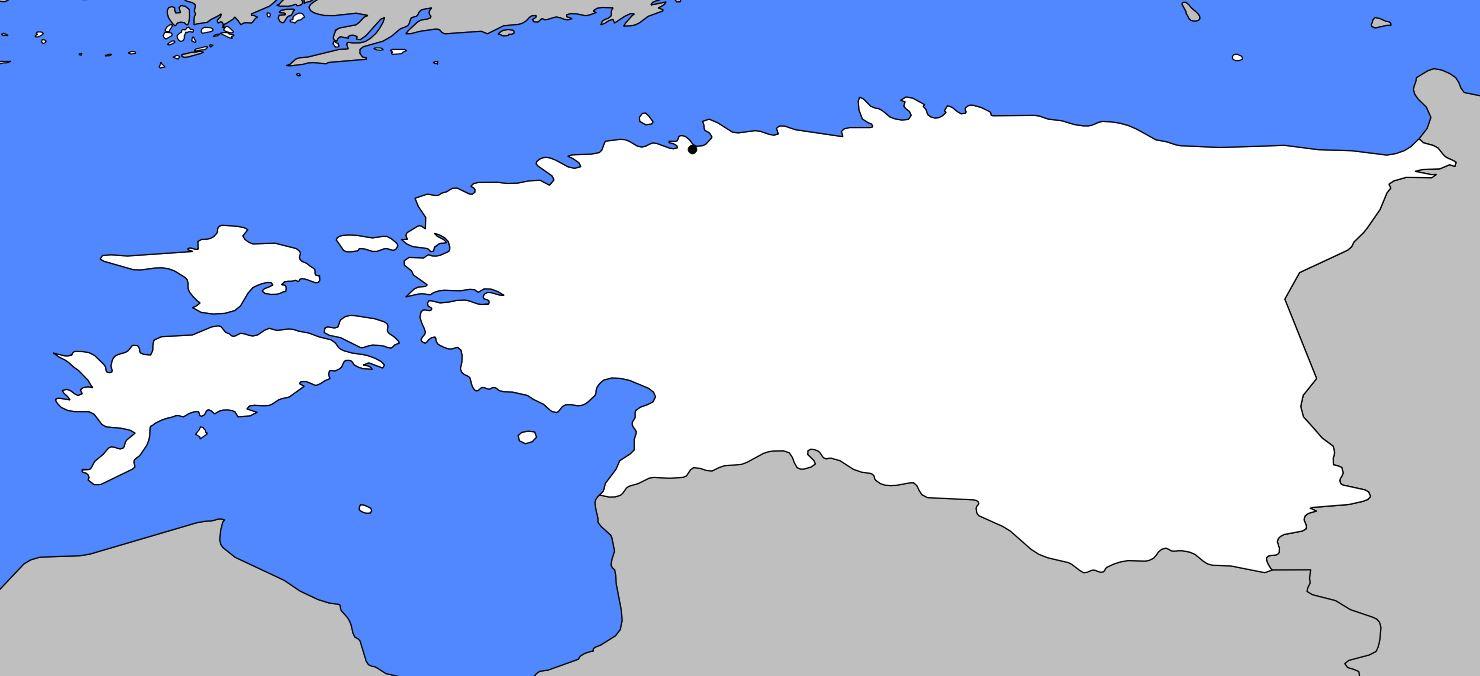 Carte vierge de l'Estonie