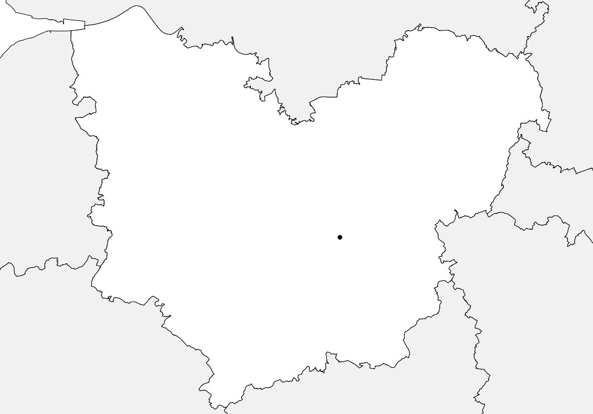 Carte vierge de l'Eure