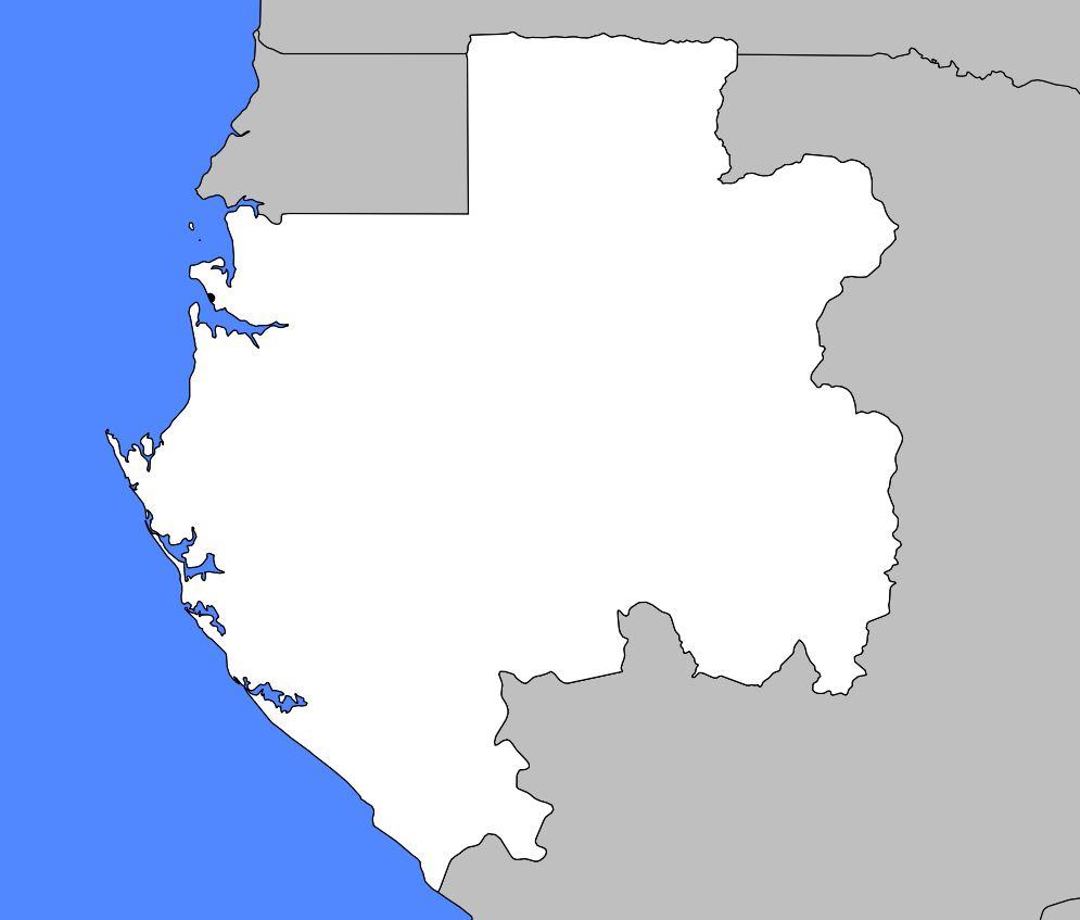 Carte vierge du Gabon