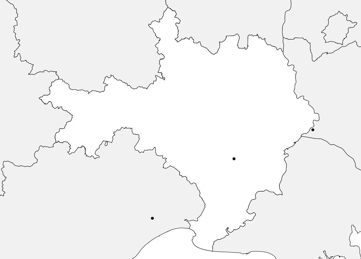 Carte vierge du Gard