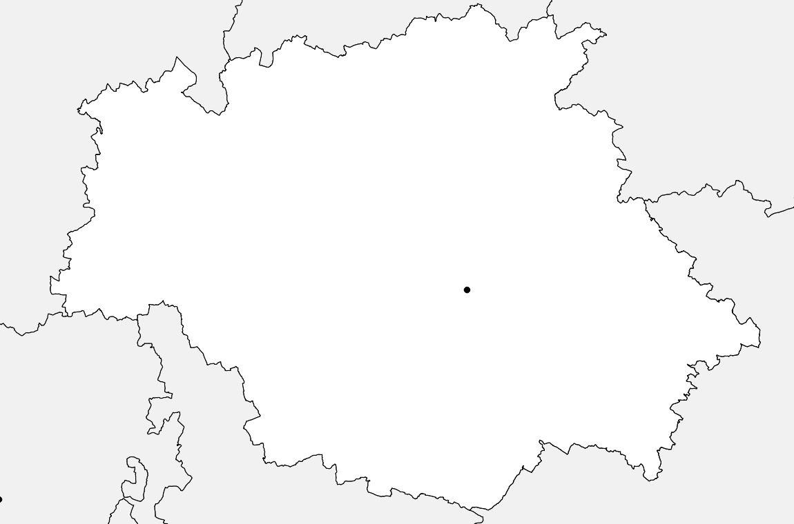 Carte vierge du Gers