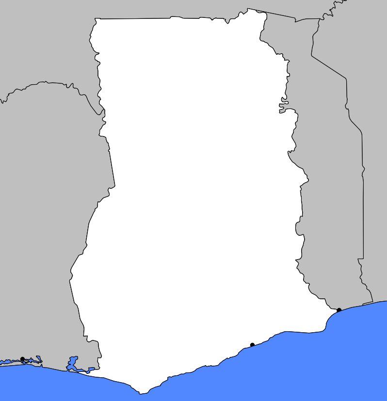 Carte vierge du Ghana