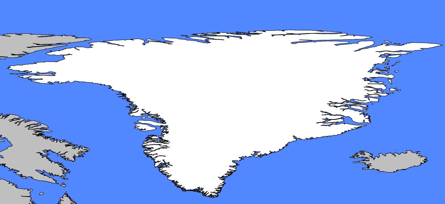 Carte vierge du Groenland