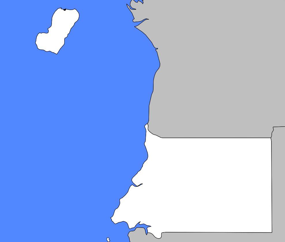 Carte vierge de la Guinée-Equatoriale