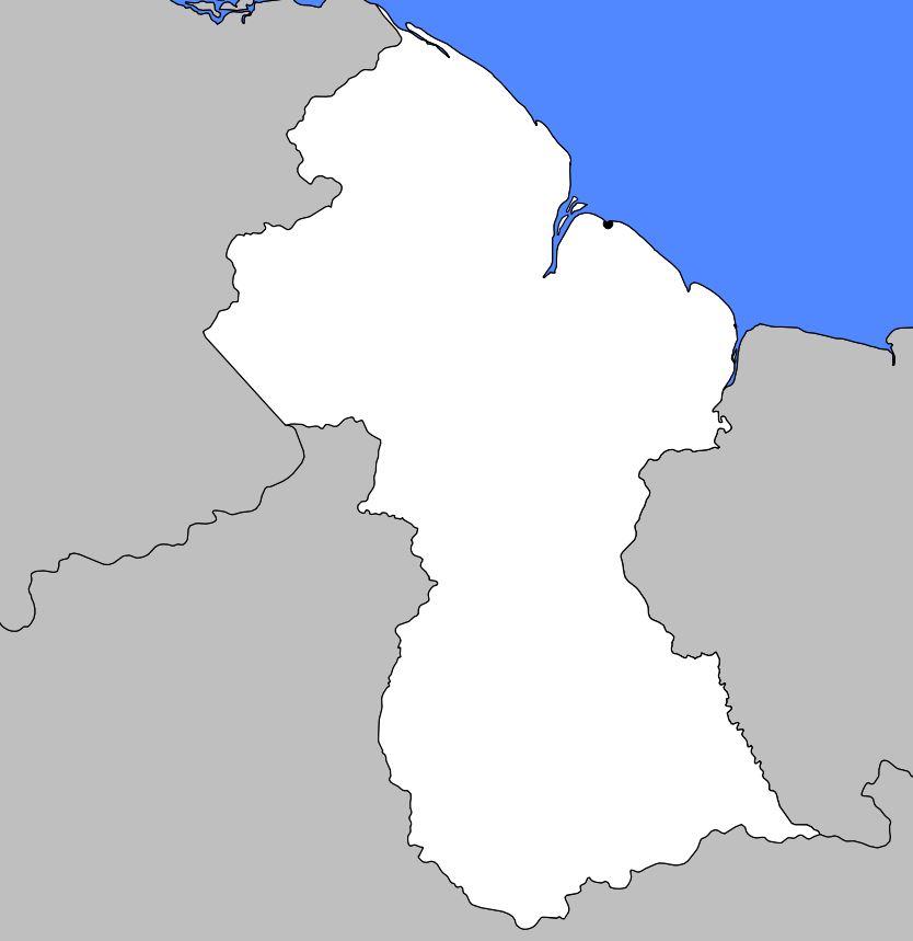 Carte vierge du Guyana
