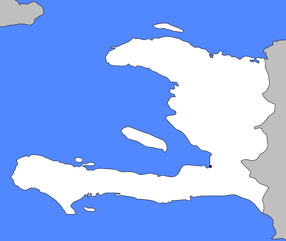 Carte vierge d'Haïti