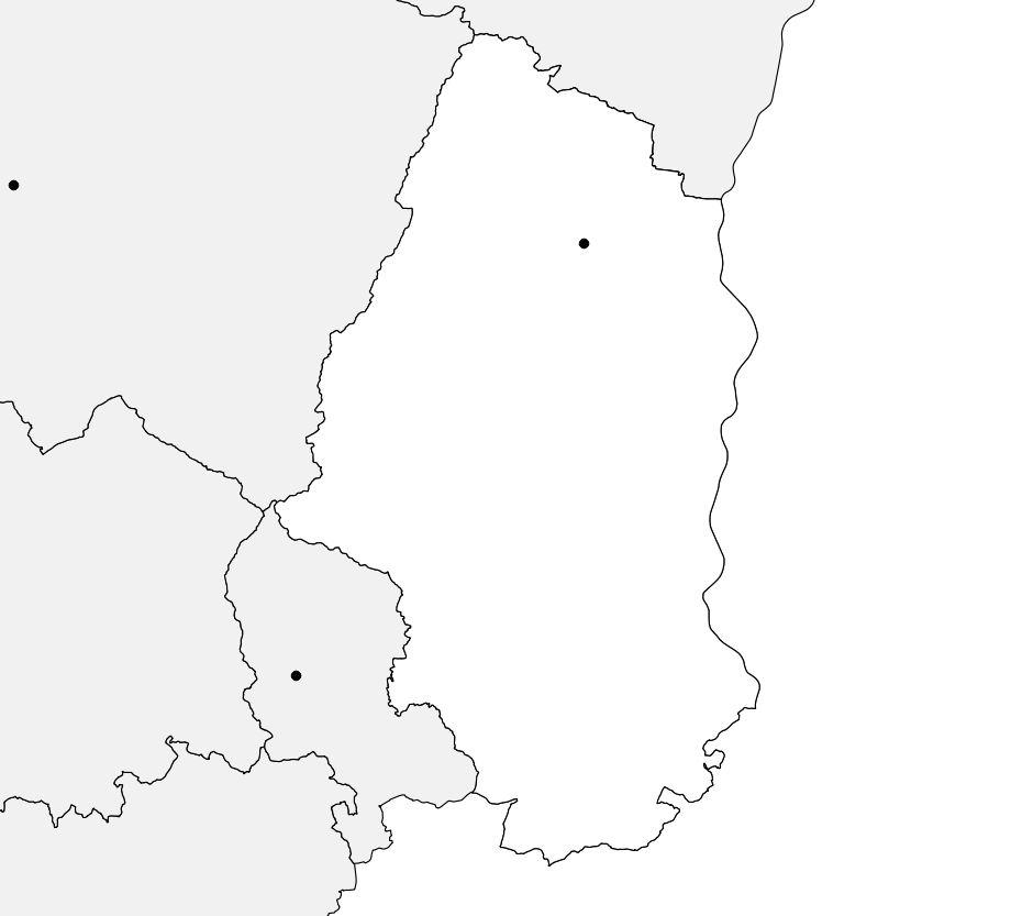Carte vierge du Haut-Rhin