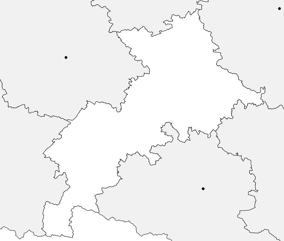 Carte vierge de la Haute-Garonne