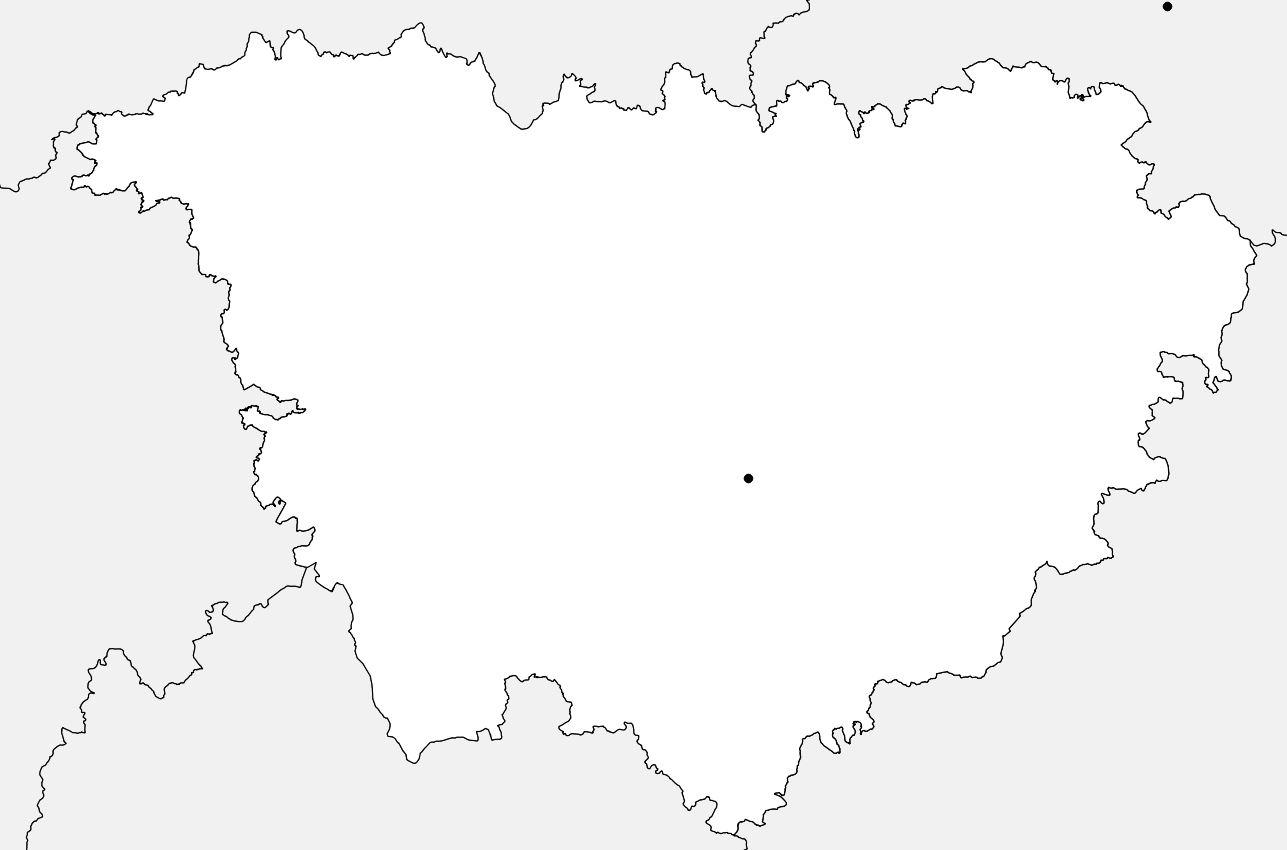 Carte vierge de la Haute-Loire