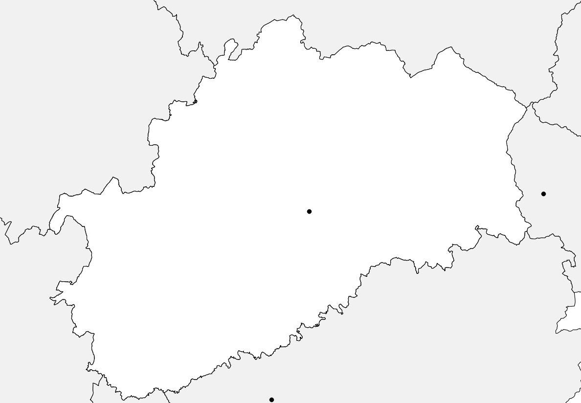 Carte vierge de la Haute-Saône