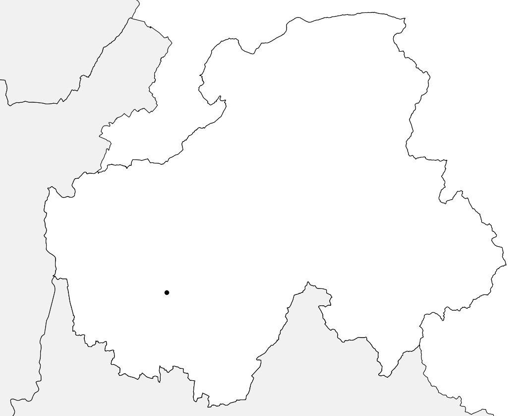 Carte vierge de la Haute-Savoie