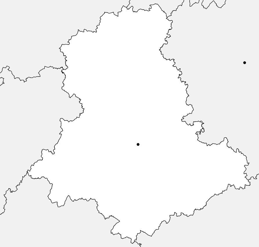 Carte vierge de la Haute-Vienne