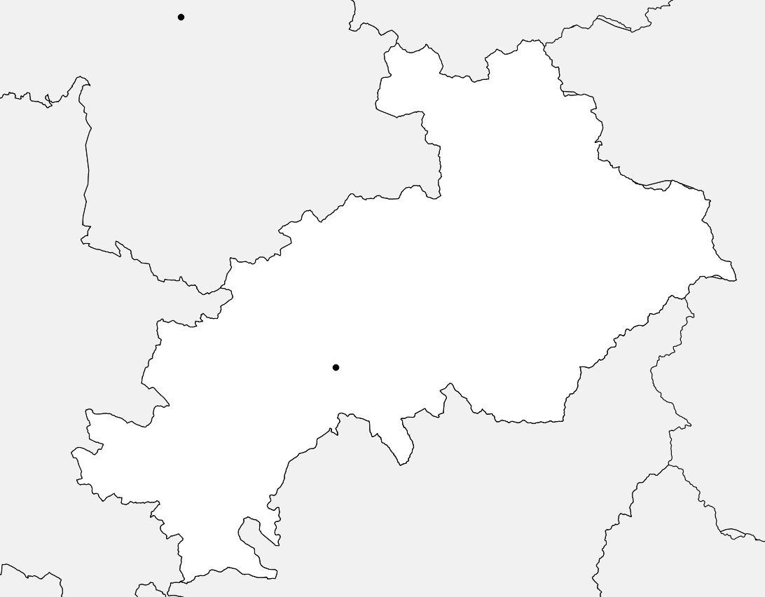 Carte vierge des Hautes-Alpes