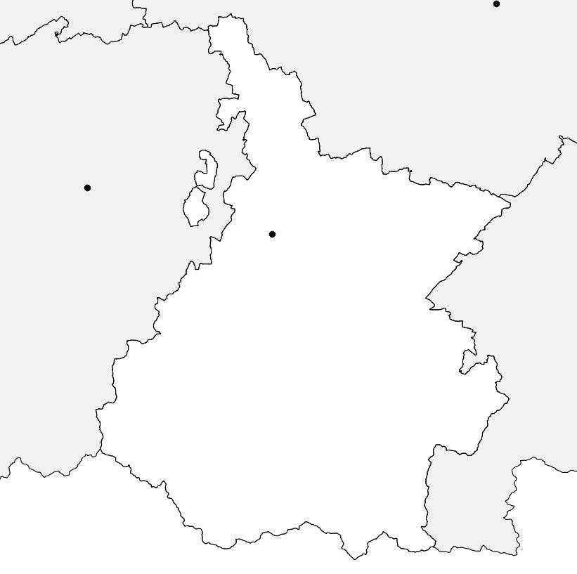 Carte vierge des Hautes-Pyrénées