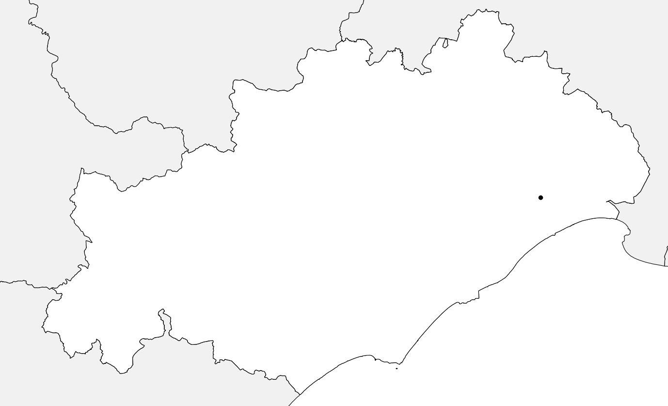 Carte vierge de l'Hérault