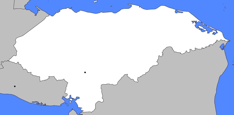 Carte vierge du Honduras