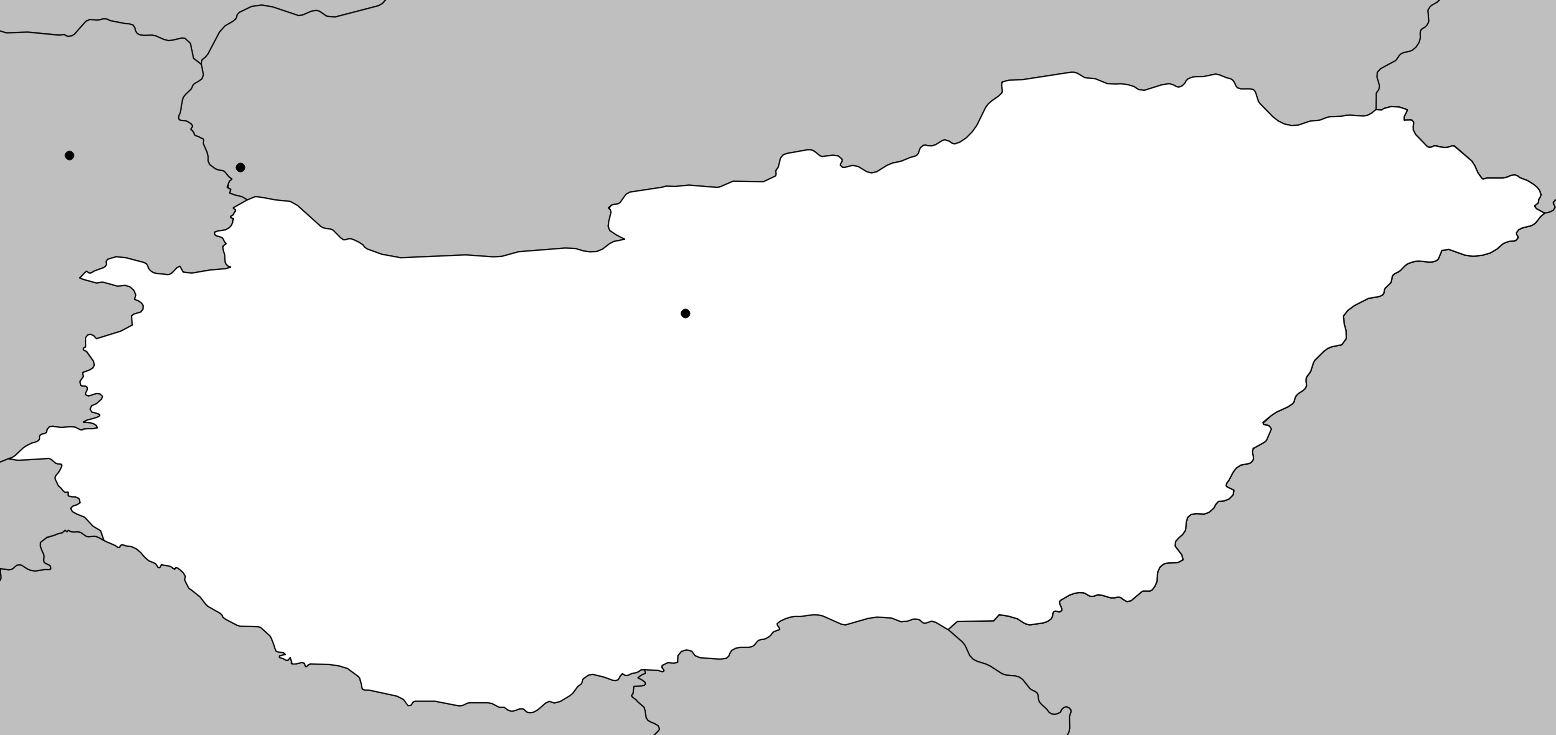Carte vierge de la Hongrie