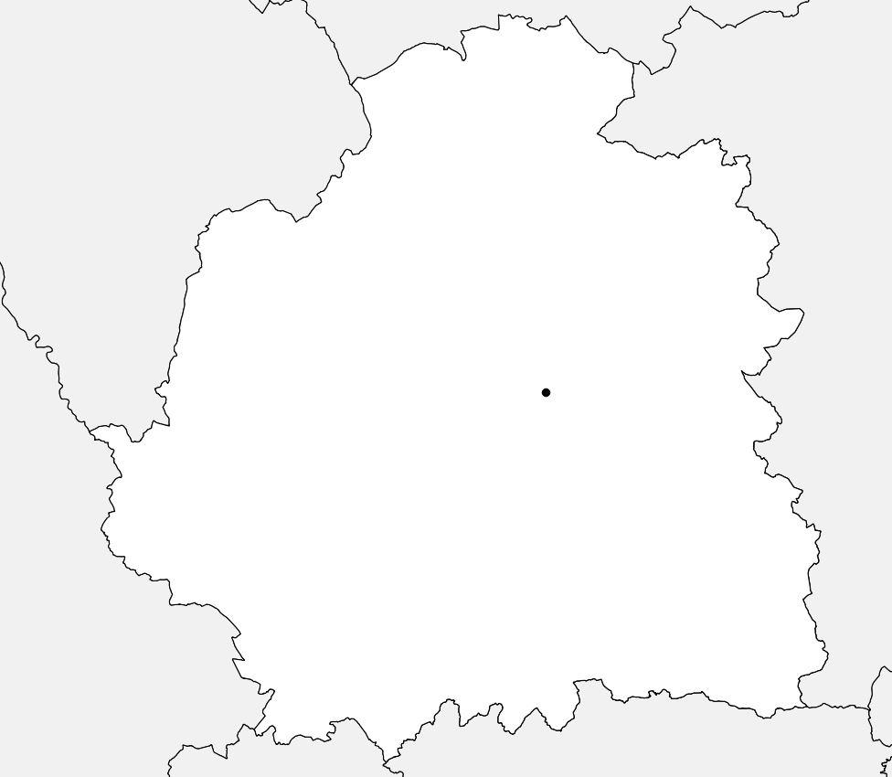 Carte vierge de l'Indre