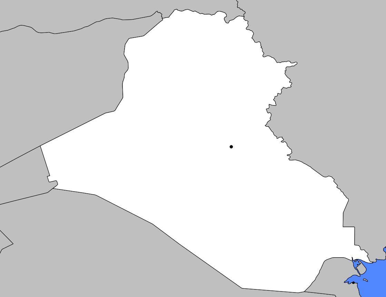 Carte vierge de l'Irak